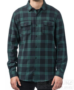camicia globe flaniganls shirt colore black green