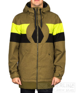 giacca snowboard volcom hal jacket colore mos