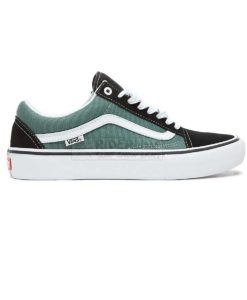 scarpe vans old skool pro colore black duck green