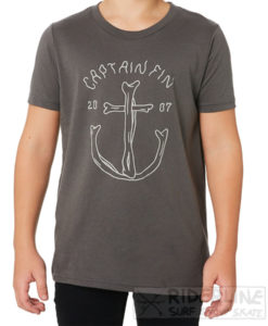 t-shirt captain fin overboard colore charcoal